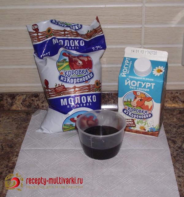 Йогурт в мультиварке без закваски рецепты