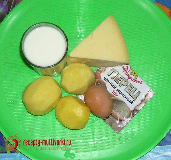 Картофель, запеченный в молоке с сыром