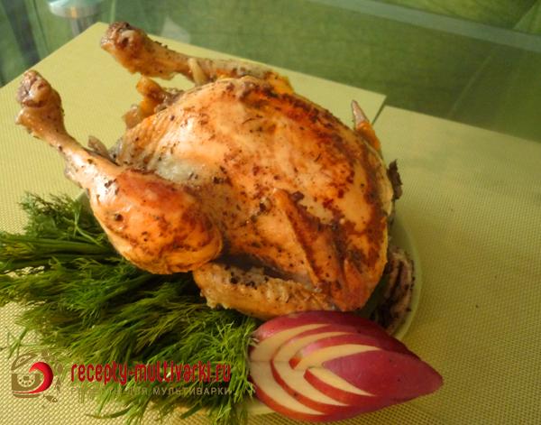 фаршированая курица в мультиварке