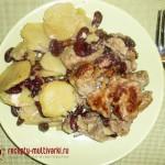 Мясо жареное под картофельной шубой