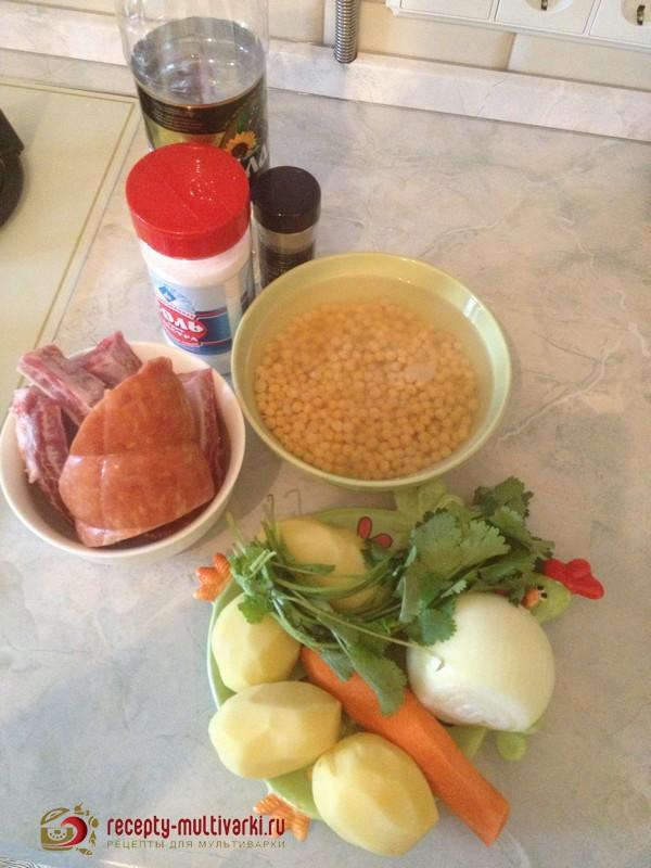 рецепты горохового супа на мультиварке полярис 0518