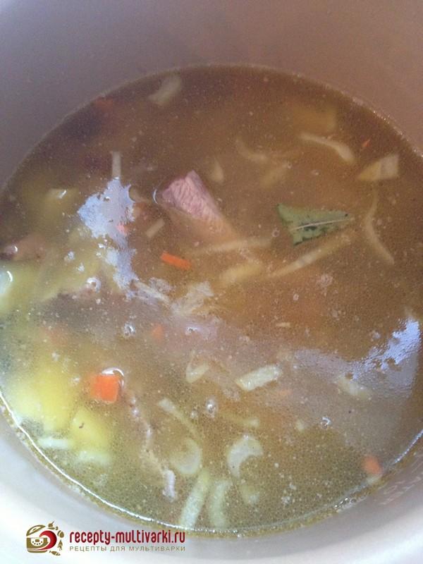 рецепт супа из шампиньонов в мультиварке поларис