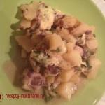Картофельно-рыбная запеканка с сыром