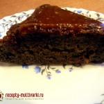 Пирог «Черный принц» с черникой