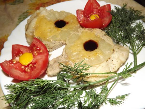 свинина в мультиварке с ананасами