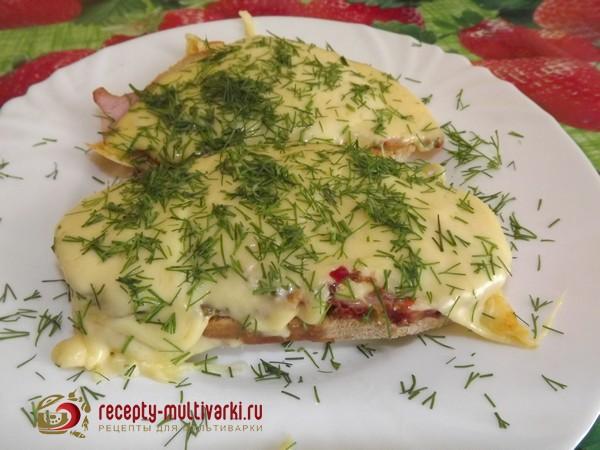бутерброд с сыром в мультиварке