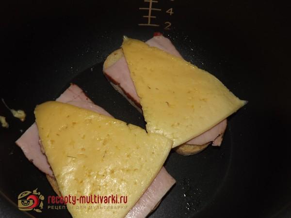 бутерброд с сыром и ветчиной в мультиварке