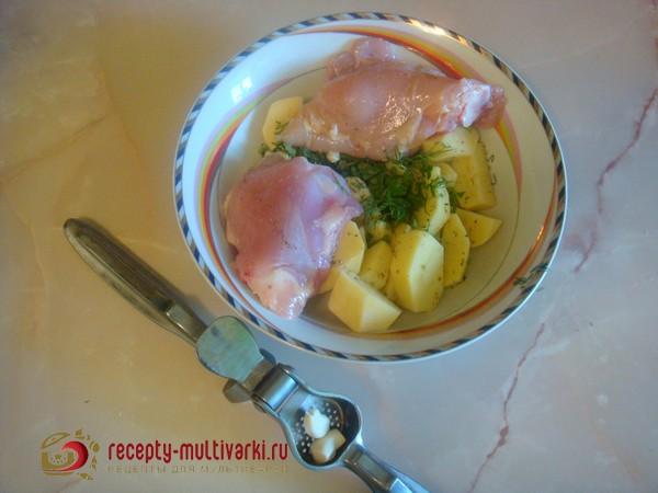 курица с овощами в мультиварке редмонд рецепты