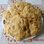 Тыквенное печенье с шоколадом к чаю