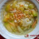 Тыквенный суп с кукурузой