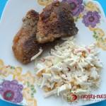 Стейк из свинины в медово-горчичном маринаде